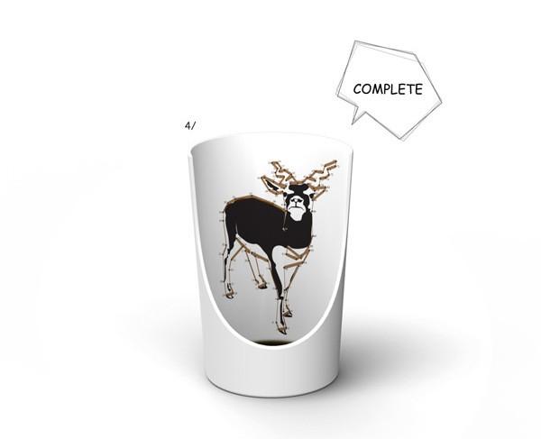 Нарисуй картинку остатками кофе