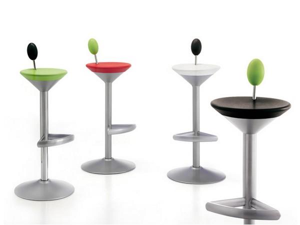 Креативные барные стулья Manhattan Stools в виде коктейлей