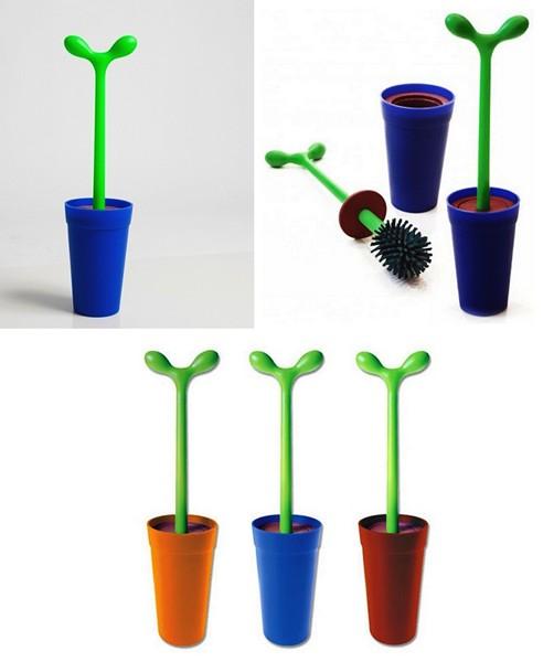 Ершик для унитаза в виде зеленого ростка