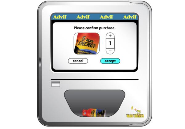 Торговые автоматы в нью-йоркских такси
