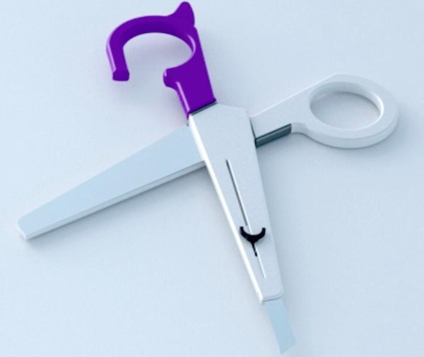 Ножницы и нож для бумаги в одном наборе