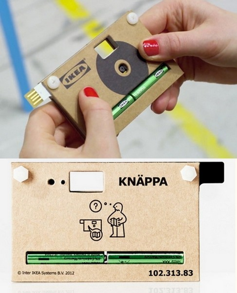 KNAPPA. Картонная камера от Ikea