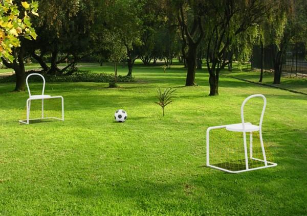 Lazy Football Chair, футбольный стул от Emanuele Magini