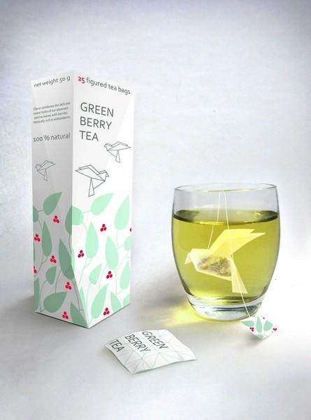 Чайный пакетик-оригами. Концепт Натальи Пономаревой