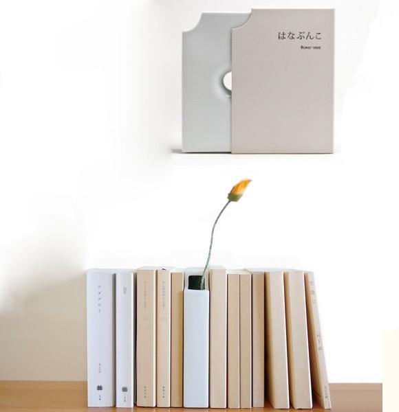 Hanabunko: оригинальные вазы в виде книг из фарфора