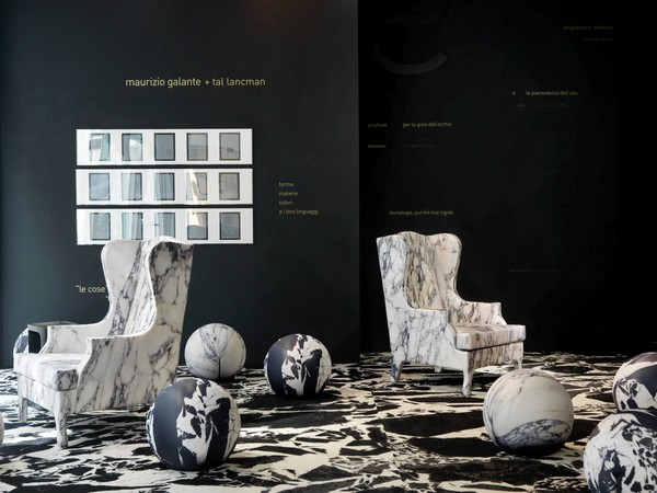 Мягкие мраморные кресла от Maurizio Galante