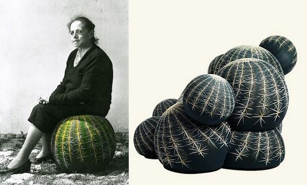 Дизайнерские кактусы для сидения. Пуфы от Maurizio Galante