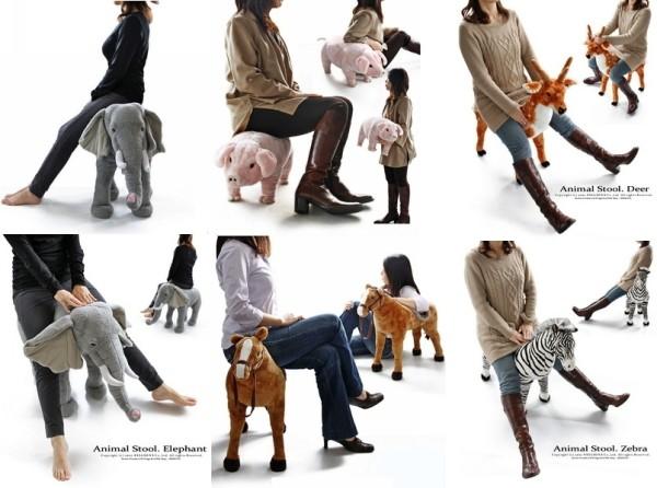 Animal Stool Set, зоопарк из табуреток в виде животных