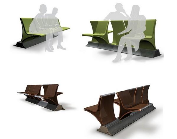 Гибкая уличная скамейка от Даниэля Перлмана