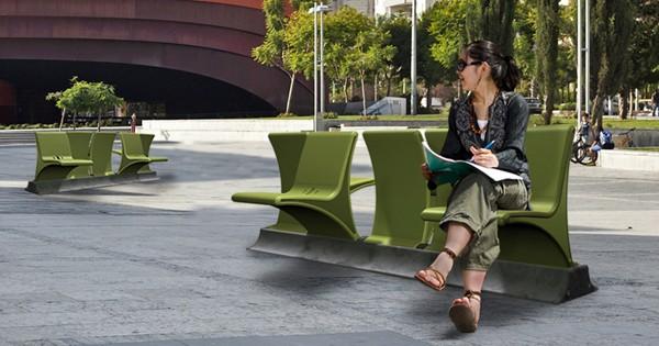 Гибкая уличная скамейка от Даниэля Перлмана (Daniel Pearlman)