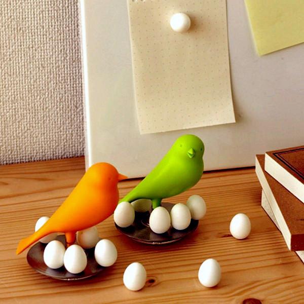 Sparrow Egg Magnet. Магниты на холодильник в виде воробьиных яиц