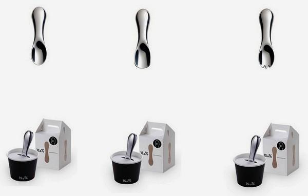 Три дизайнерские ложки для мороженого из серии «15,0%»