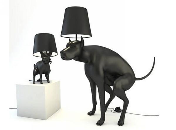Good Boy и Good Puppy, неприличные светильники в виде какающих собак
