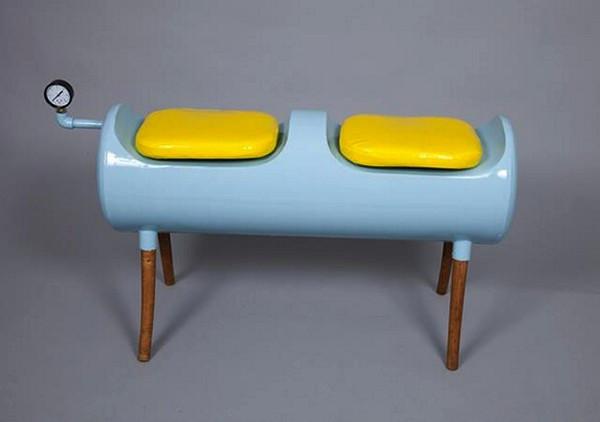 Скамейка 79°C bench из старого бойлера
