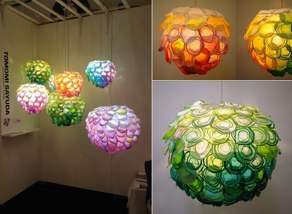 Daydream, разноцветные бумажные светильники Томоми Саюды