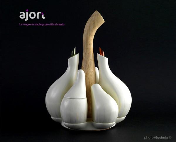 Ajori или чесночная головка. Набор емкостей для специй от компании photoAlquimia