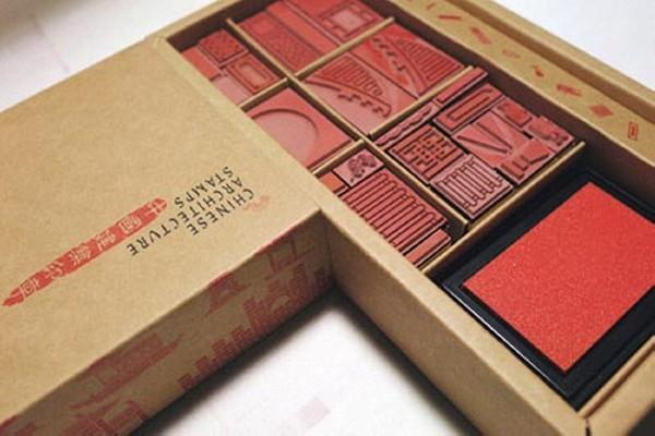 Chinese Architecture Stamps. Архитектурные штампы для юных строителей