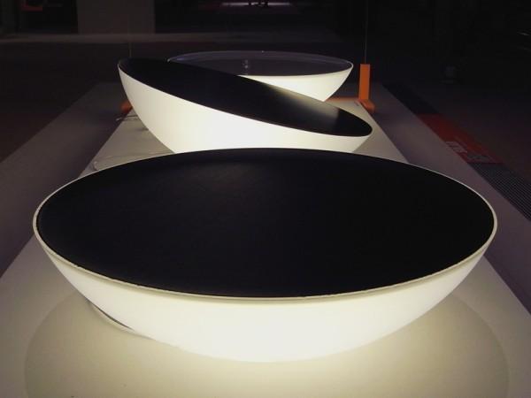 Solar lamp: необычный светильник и светящийся журнальный столик