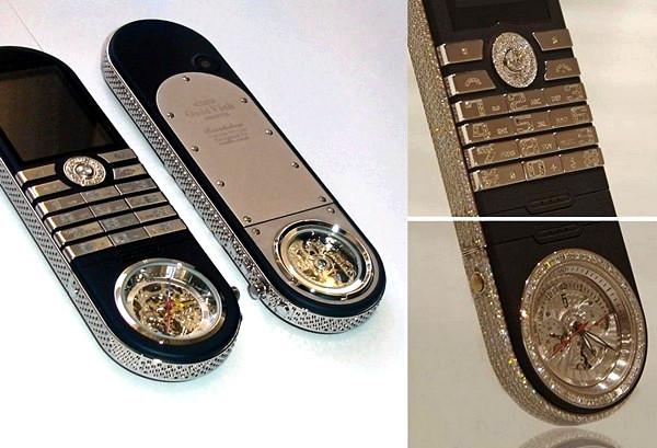 GoldVish Revolution, революционный мобильный телефон со встроенными швейцарскими часами ручной сборки