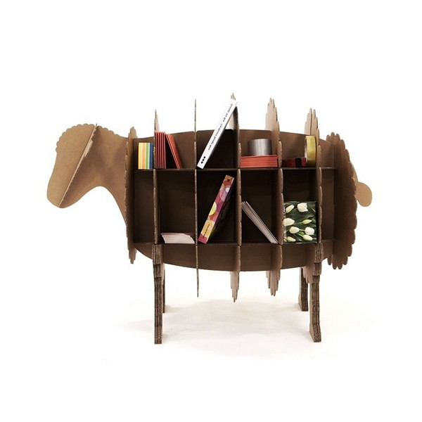 Мебель и аксессуары для дома, сделанные из картона