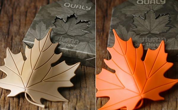 Autumn doorstoppers, осенние листья как дверные стопперы