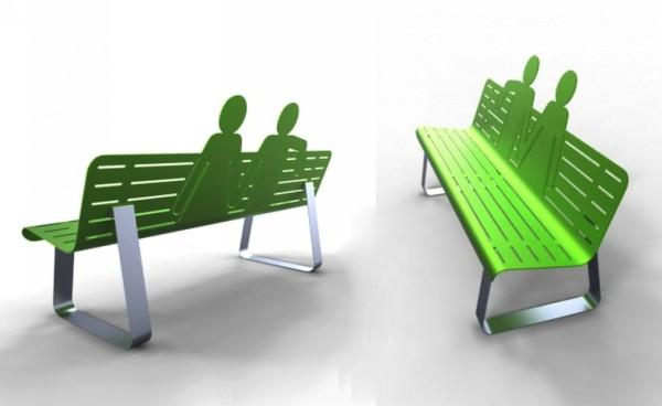 Необычные скамейки на улицах города