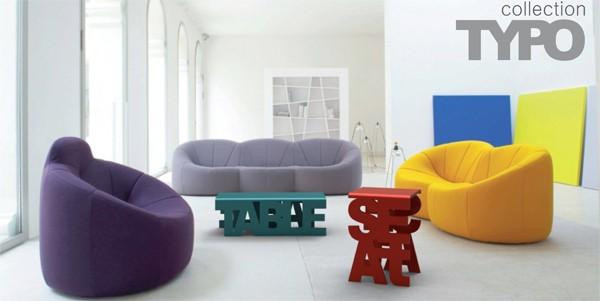 Typo furniture collection: мебель из слов, дизайн Luiza Boaventura Mendonсa