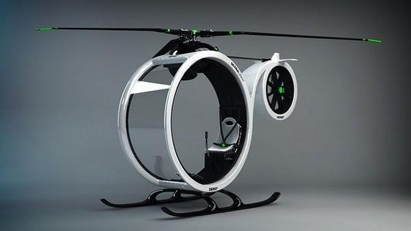Городской транспорт будущего: одноместный вертолет Zero Helicopter