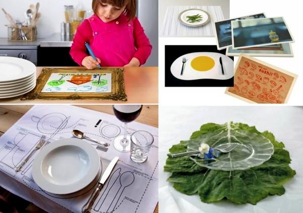 Обзор оригинальных салфеток под тарелки