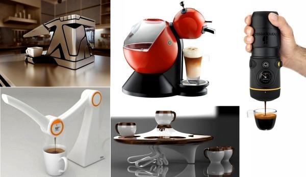Самые необычные кофеварки и кофемашины от современных дизайнеров