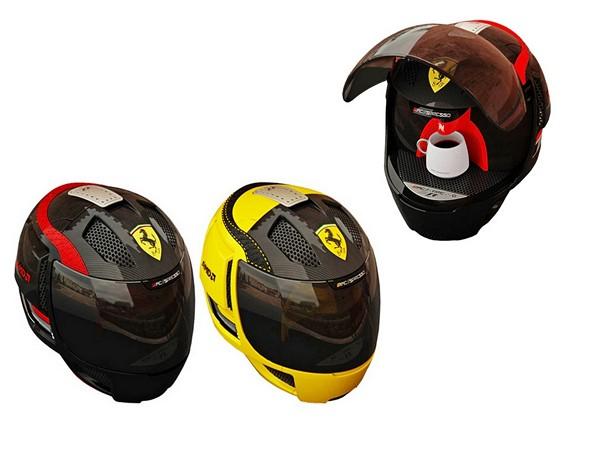 Кофеварки в виде шлемов Ferrari