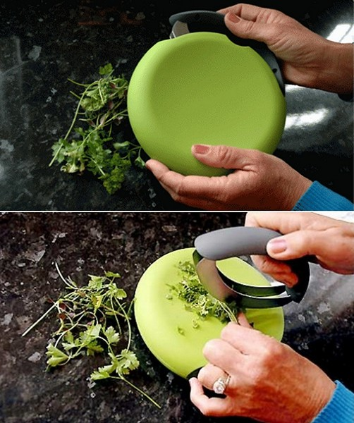 Безопасный нож для нарезки зелени