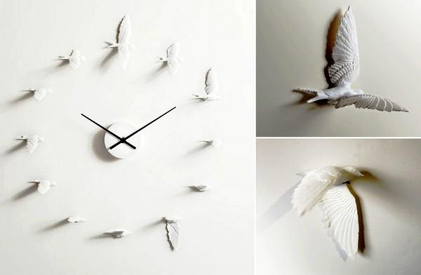 Время в ласточках. Необычные настенные часы Swallow X clock
