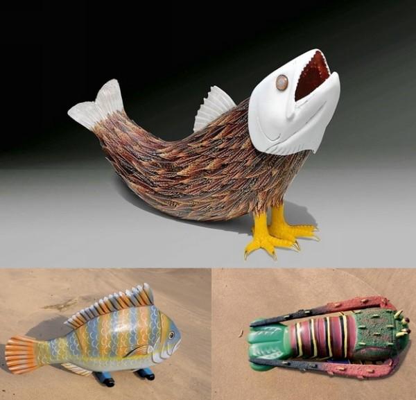 Урны для праха в виде диковинных рыбок