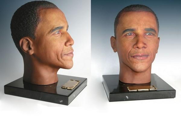 Погребальная урна в виде головы Барака Обамы