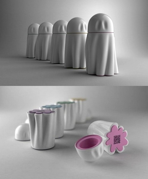 Концептуальный дизайн урн от киевского автора Анны Мариненко