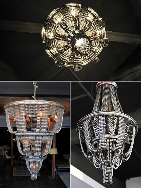 CONNECT: серия необычных люстр и светильников из велосипедных запчастей