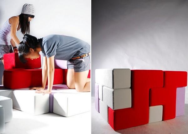 Подушки-кирпичики для строительства мебели