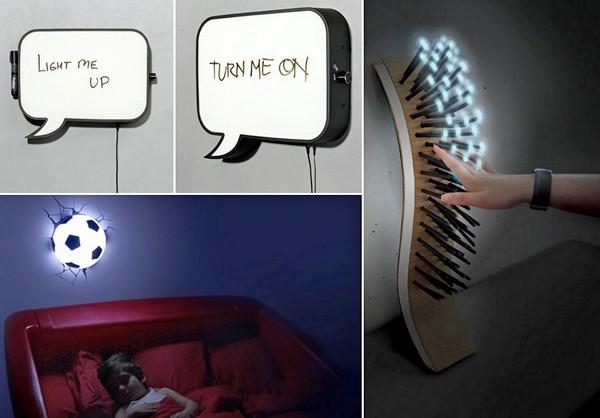 Обзор необычных настенных ламп от современных дизайнеров