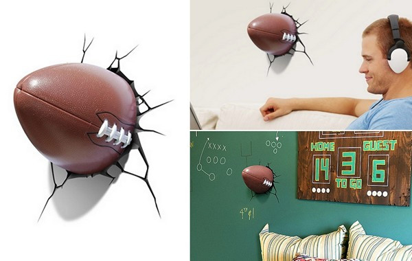 Настенная лампа в виде мяча для американского футбола