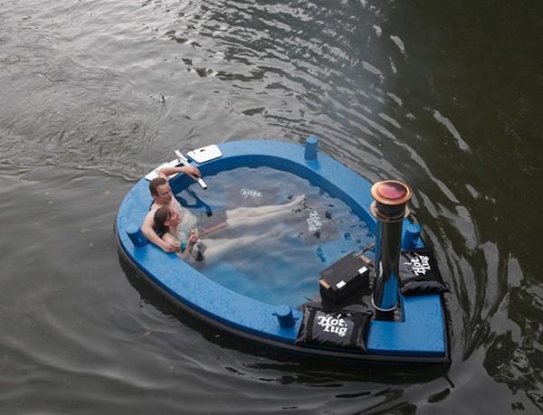 HotTug: гибрид лодки и джакузи от Frank de Bruijn