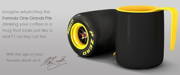 Pirelli coffee mug. Концептуальная кружка для фанатов Formula One