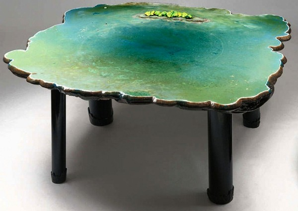 Столы-водоемы Waterscape Tables от Гаэтано Пеше (Gaetano Pesce)