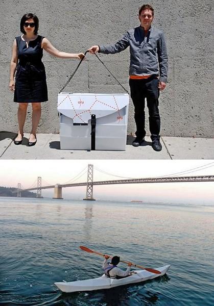 Складная байдарка ORU kayak, которую можно носить в портфеле