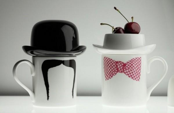 Bow Tie Mugs и Moustache mugs: необычная керамика Питера Ибрюггера (Peter Ibruegger)