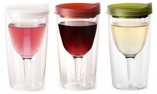 Vino2Go Wine Sippy Cup, коллекция бокалов в стакане, заранее наполненных вином