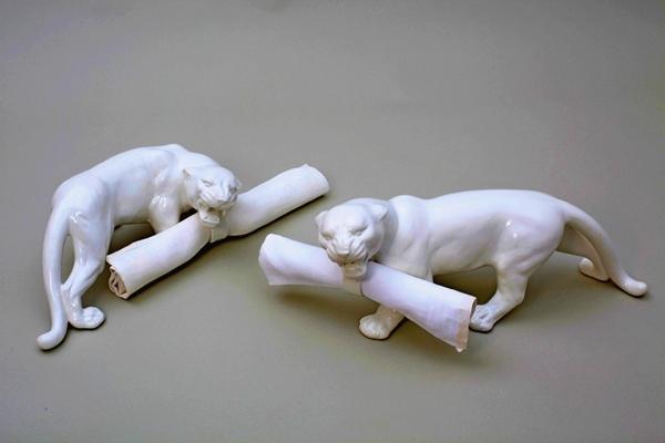 White Animal Life Tableware: дизайнерская посуда в виде белых зверей