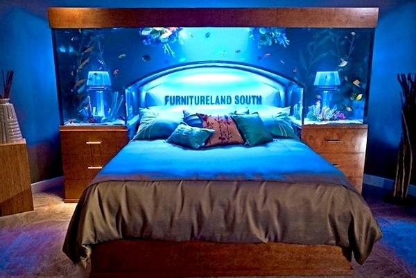 Кровать с аквариумом, оригинальный дизайн  для  Furnitureland South