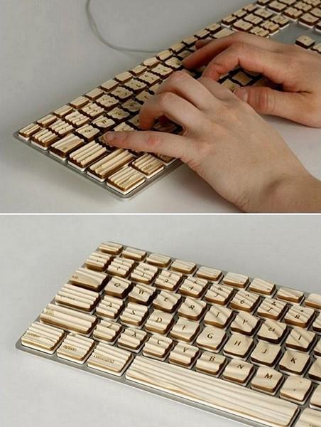 Приятные на ощупь клавиатуры из настоящего дерева