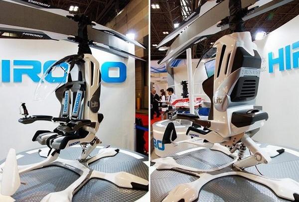 Hirobo — одноместный электрический вертолет